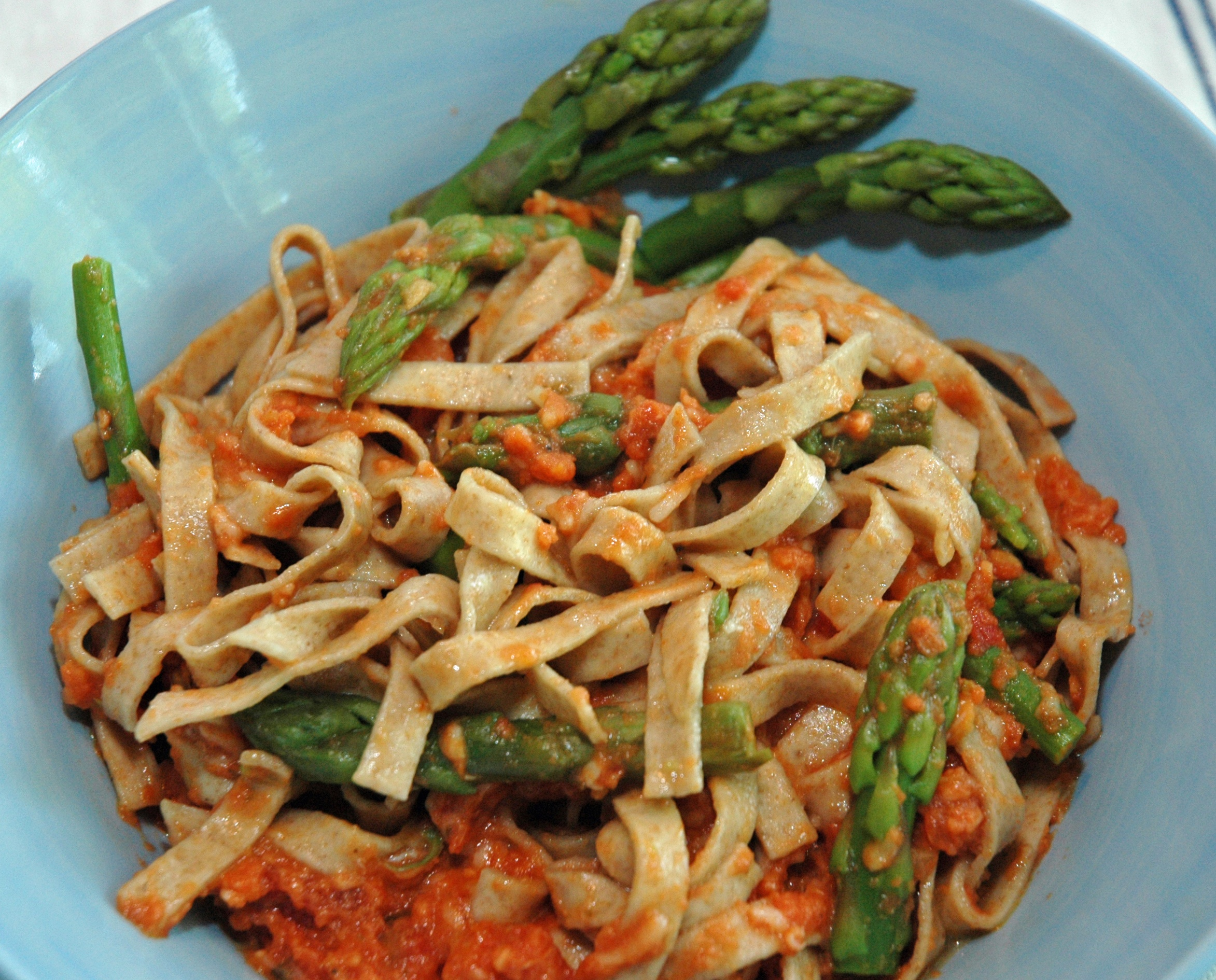 Pasta with asparagus, 19_July_2013